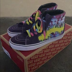 Tie Dye High Top Vans